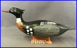 Superb Merganser Decoy by Wildfowler Co. Bohemia, NY 1989 Painted by D. Young