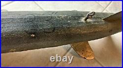 Vintage 33 Sturgeon Fish Spearing Decoyice Fishingfolk Artwood Collectible