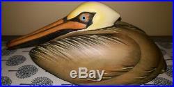 Vintage Big Sky Carvers Master's Edition Bob Guge Pelican Wood carving Decoy