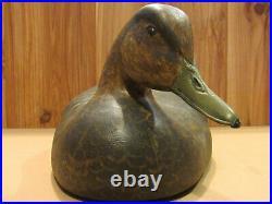 Vintage Black Mallard Old Working Duck Decoy Original Paint by Danny Lee Heuer