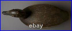 Vintage Bluebill Drake Duck Decoy By Unknown Wisconsin Carver