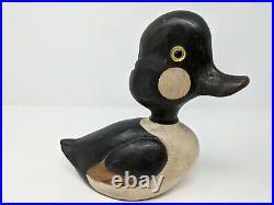 Vintage Bob Hayden Duck Decoy Signed on Bottom Mallard Handpainted Carved