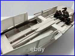 Vintage Bushwhacker Hunting Boat Model Replica, Canvasback Duck Decoys, Guns