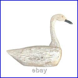 Vintage Carved Wood Swan Decoy