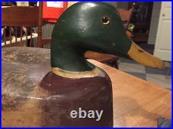 Vintage Cline Mcalpin Illinois River Mallard Duck Decoy Hollow Special Order Op