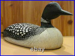 Vintage Common Loon Hand Carved Decorative Decoy by Danny Lee Heuer Original