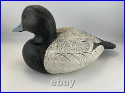 Vintage Duck Decoy Drake Bluebill Signed Roe Terry Duck Man 1982