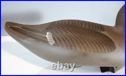 Vintage Hen Canvasback by John Clark Hand Carved Duck Decoy Havre De Grace MD