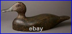 Vintage Jesse Baker Black Duck Decoy Duck Decoy Trenton, Ontario