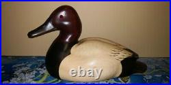 Vintage John Gewerth Ducks Unlimited Lac La Croix Wood Duck Canvasback Decoy