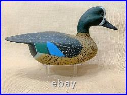 Vintage Louisiana Wood Blue-winged Teal Drake Duck Decoy