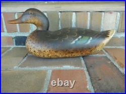 Vintage Mason Challenge Grade Hen Mallard Duck Decoy Very Nice
