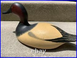Vintage Mason Decoy Factory Seneca Lake Canvasback Drake Duck Original Paint