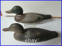Vintage Mason Painted Eye Mallards Original Paint Duck Decoy