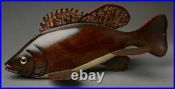 Vintage Michigan Alton Chub Buchman Bass Ice Fish Spearing Decoy
