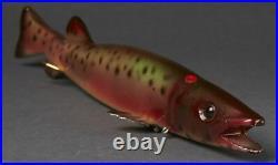 Vintage Michigan Bud Stewart 11 Pike Ice Fish Spearing Decoy Fishing Lure