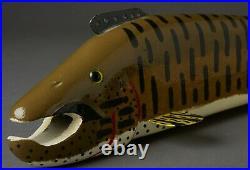 Vintage Michigan Jim Nelson 14 Pike Fish Spearing Decoy Folk Art Fishing Lure
