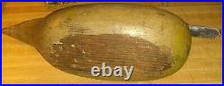 Vintage PINTAIL HEN Duck Decoy West Coast ORIG RARE CA. CARVED WING FEATHERS