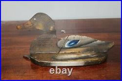 Vintage Primitive Pair Of Duck Decoys Double Sided