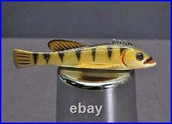 Vintage Sonny Bashore Perch 4 1/2 Carved Fishing Fish Decoy Paulding OH