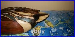 Vintage Tom Taber Hersey Kyle Wood Duck Decoy Northern Shoveler Spoonbill RARE