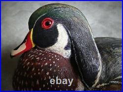 Vintage hollow Wood Duck, 1st Place, 1974 Midwest Decoy Contest