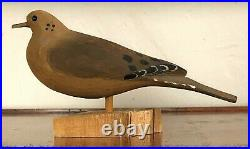 Will E. Kirkpatrick Wek Hand Carved 12.50 Mourning Dove Decoy Sculpture Figure