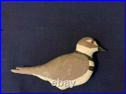 Wilson's snipe stick up decoy set withKilldeer sentinels, vintage shorebird decoys